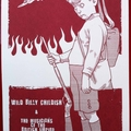 Billy Childish & The MBE's - End Of The Road 2008 Festival poster (white card)