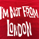 I'm Not From London Tote Bag in Red