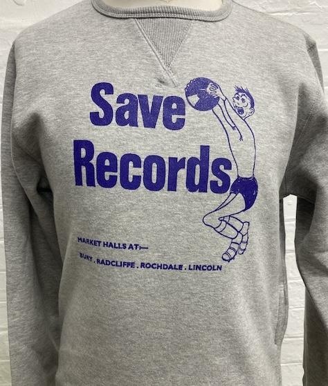 SAVE RECORDS GREY SWEATSHIRT