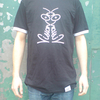 Vision On T-Shirt Black and White Hooped<BR><BR>