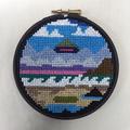 Beach Sighting cross stitch embroidery