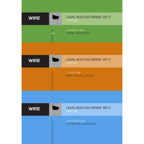 """Wire - Releases 6-8 in Wire's """"Legal Bootleg"""" Download Series 2"""