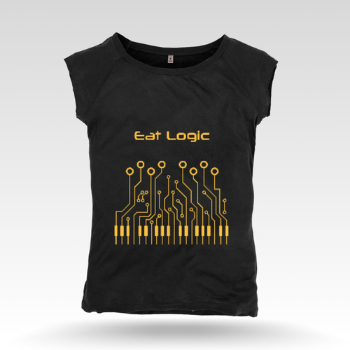 Lady's Black Sleeveless T-Shirt
