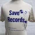 SAVE RECORDS CREAM / PURPLE TEE