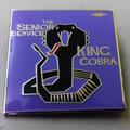 The Senior Service - King Cobra ENAMEL BADGE (PURPLE)