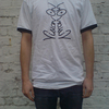 Vision On T-Shirt White and Black Hoops