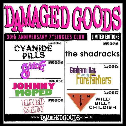 CTMF, Cyanide Pills, Giuda, Hard Skin, Johnny Moped, The Shadracks - 30th Anniversary Singles Club (250 copies only)
